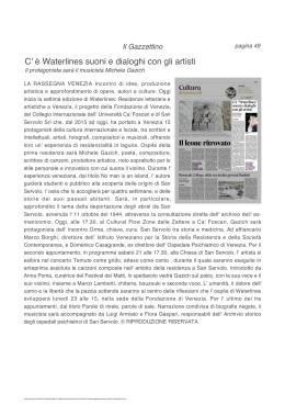 17.10.2017 IL GAZZETTINO_C'E' WATERLINES SUONI E DIALOGHI CON GLI ARTISTI